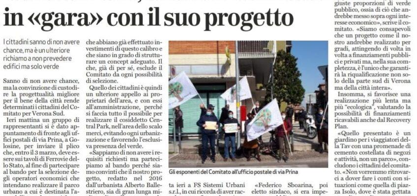 Il Comitato di Verona Sud partecipa al bando per il Parco allo Scalo